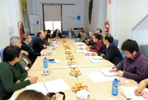 Imaxen visita o consello de contas. - Xornadas sobre autonomías en España e China: Galicia como exemplo